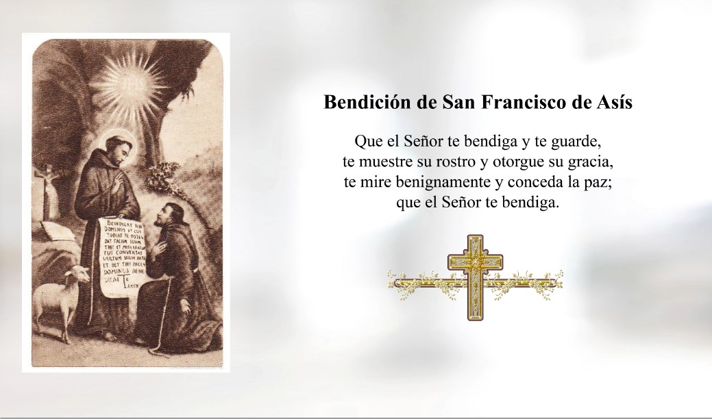 Bendición de San francisco de Asís