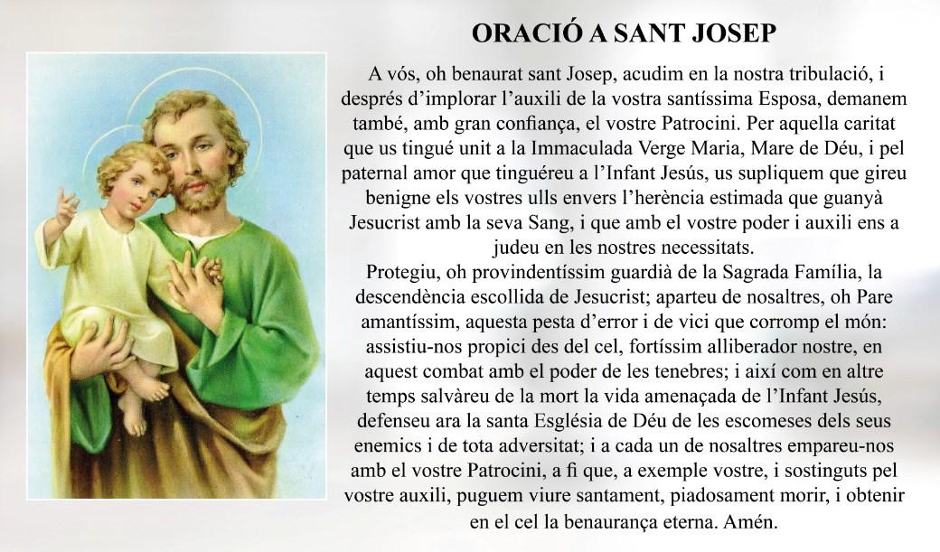 Oració a Sant Josep