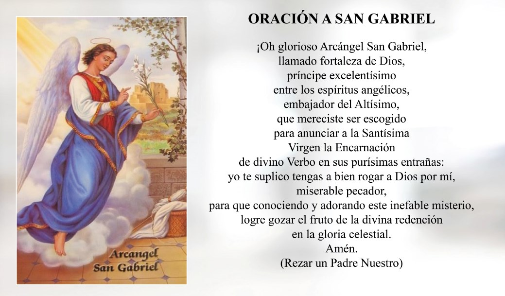 Oración a San Gabriel