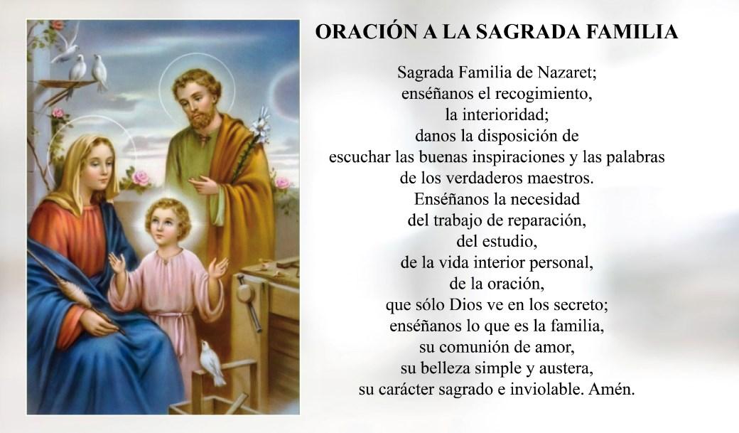 Oración a la Santa Sagrada Familia de Nazaret