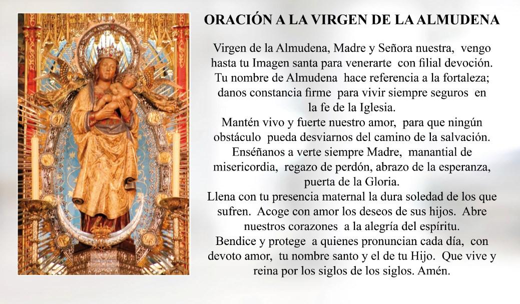 Oración a la Virgen de la Almudena