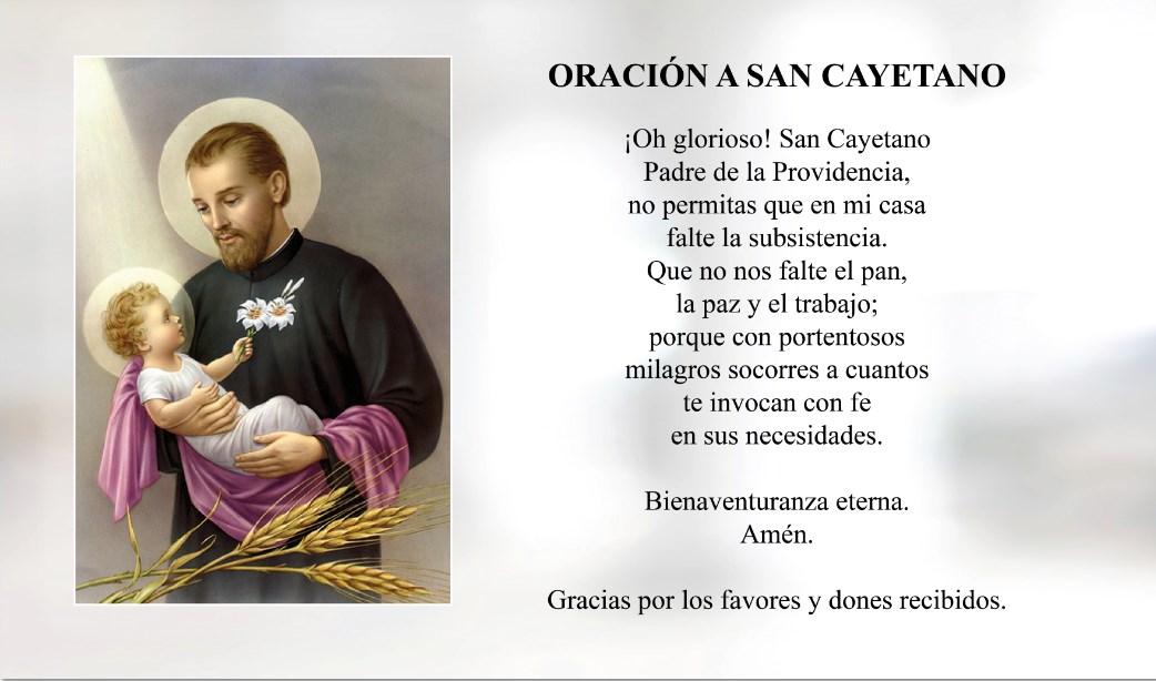 Oración a San Cayetano