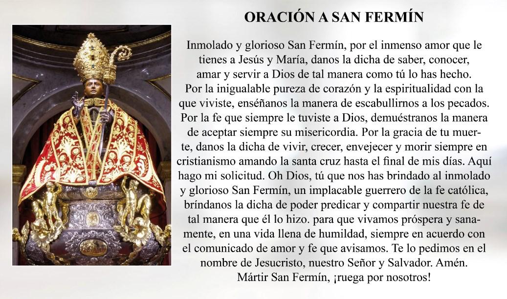 Oración de San Fermín