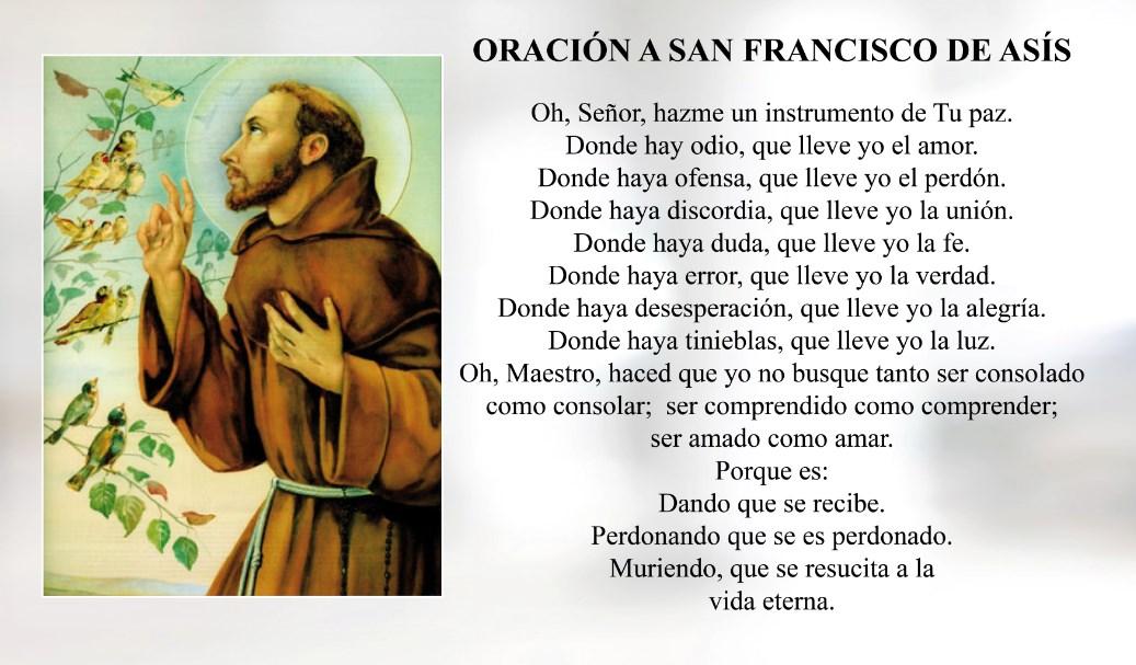 Oración a San Francisco de Asís