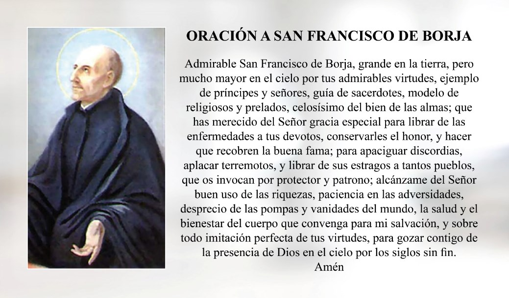 Oración a San Francisco de Borja