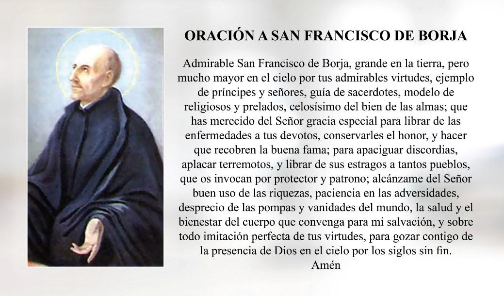 Oración a San Francisco de Borja