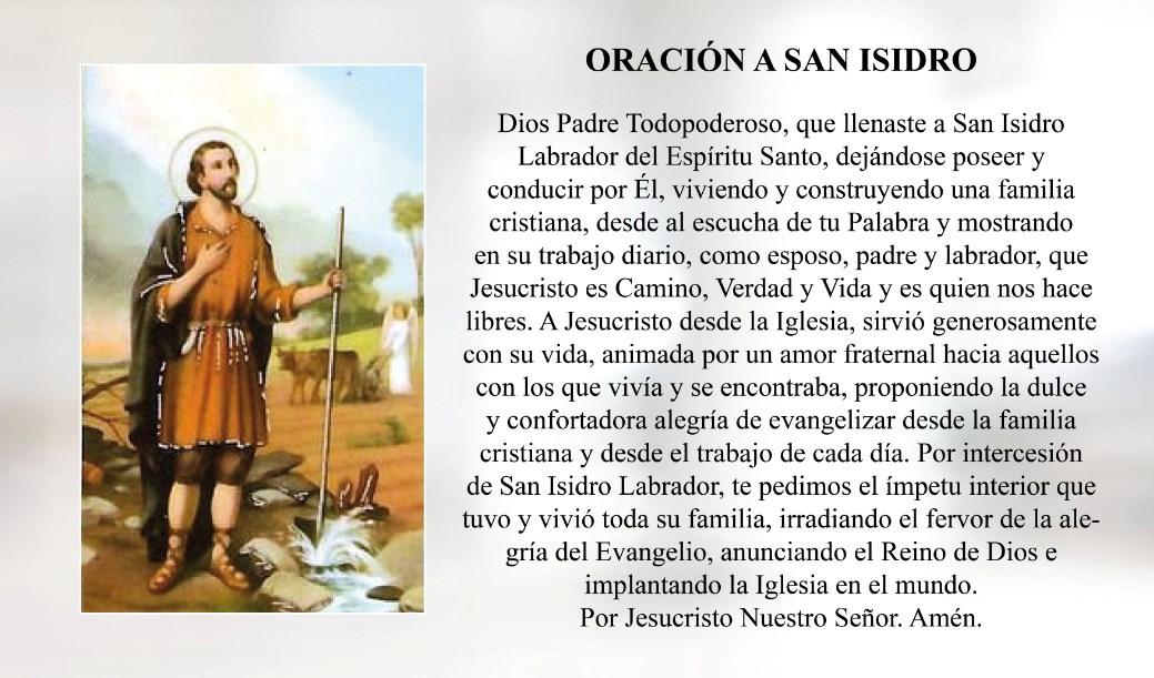 Oración a San Isidro