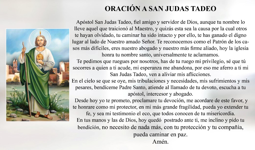 Oración a San Judas Tadeo