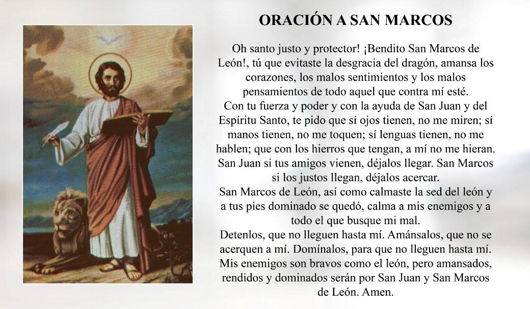 Oración a San Marcos