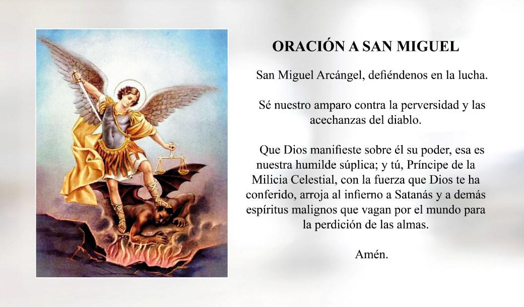 Oración a San Miguel