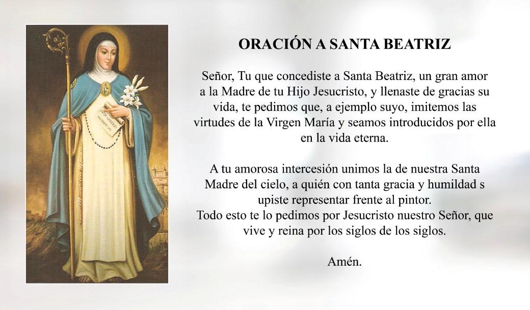 Oración a Santa Beatriz