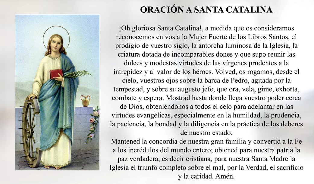 Oración a Santa Catalina