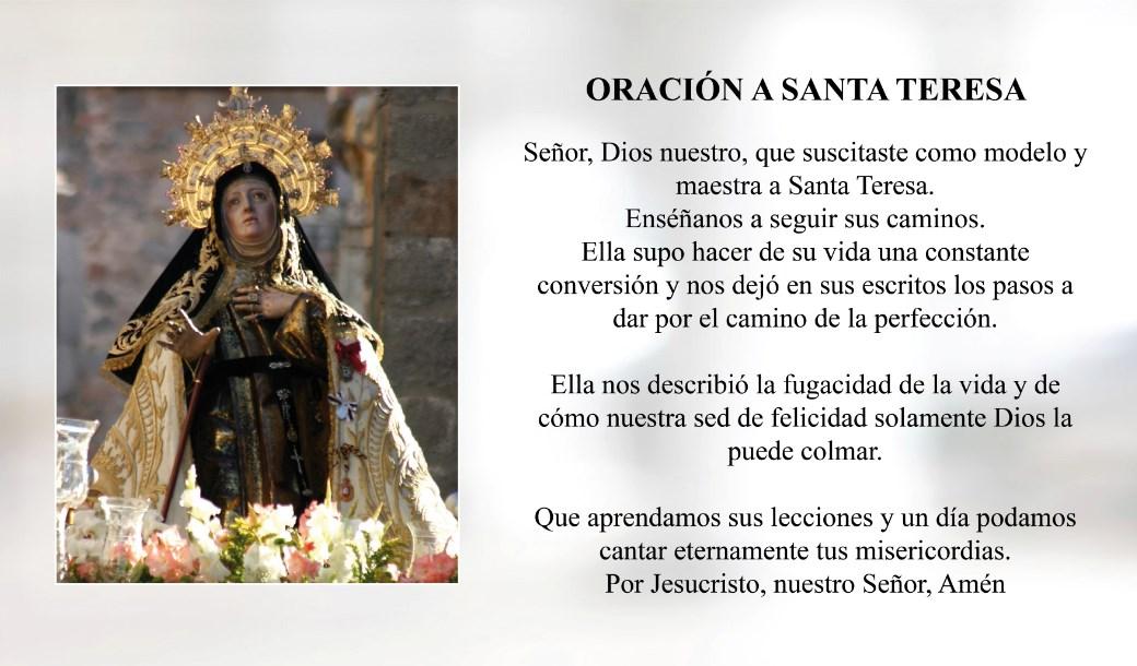 Oración a Santa Teresa