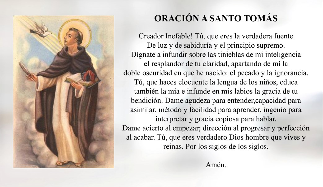 Oración a Santo Tomás